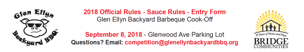 2018 Official Rules and Entry Form